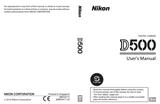 Nikon D500 User Manual