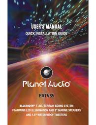 Planet Audio PATV85 Owner's Manual