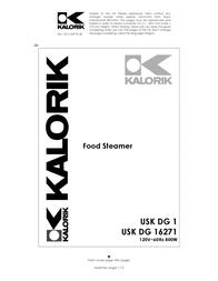 KALORIK USK DG 16271 User Manual