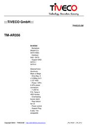 Tiveco TM-AR356 Leaflet
