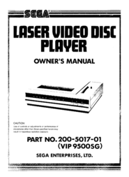 SEGA DVD Player 200-5017-01 User Manual