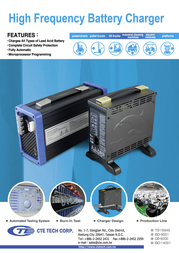 Cte CTE4C12030, Lead Acid Battery Charger, CTE4C12030 Data Sheet