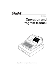 SAM4S ER-390M User Manual