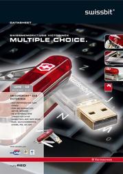 SwissBit SWISSMEMORY TM USB Victorinox 256mb Extended 11145 Data Sheet
