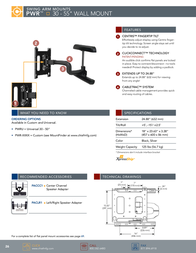 Chief Swing Arm Wall Mount PWRUS Leaflet