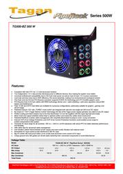 Tagan TG500-BZ PipeRock 500W TG500-BZ Leaflet