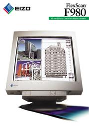 Eizo 55 cm (21 inch) class Color CRT Monitor F980 Leaflet