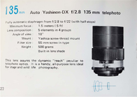 Yashica Yashinon-DX 28 mm f/ 2.8 Auto Lens Brochure