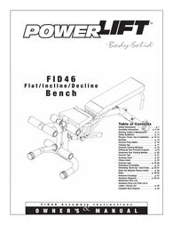 Body Solid FID 46 User Manual