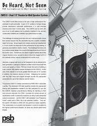 PSB cws10 Specification Guide