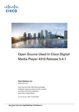 Cisco Cisco Edge 300 Digital Media Player Licensing Information