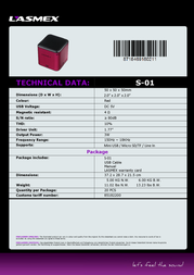 Lasmex S-01 S-01 RED Data Sheet