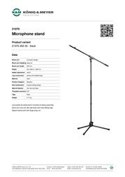 König & Meyer 21070 21070-300-55 Leaflet
