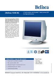 Belinea monitor 108030 21CRT DynaFlat 108030 Leaflet