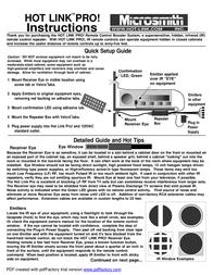 Microsmith Emitter Expansion Kit EXPX6 Leaflet