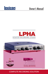 Lexicon Alpha Desktop Recording Studio User Manual