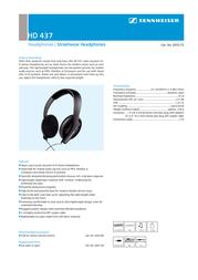 Sennheiser HD 437 05175 Leaflet