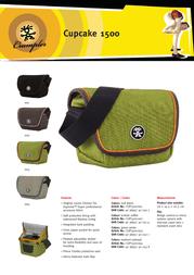Crumpler Cupcake 1500 CUP1500-001 Leaflet