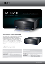 NOX Media II NOXMEDIA2 Leaflet
