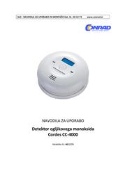 Cordes Gas detector 1025 battery-powered detects Carbon monoxide 1025 User Manual