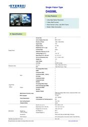 Hyundai D400MG DID405DMG Leaflet