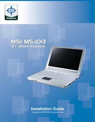 MSI MS-1013 Black 1013A-B03S User Manual