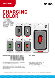 Miia Charging Color AA-CUSB2PLUSCOL-RED Leaflet