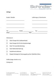 Schindler Alusystemtechnik SOLAR-ENERGIE-PORT SELBSTSTEHEND SEP4051 SEP4051 Data Sheet