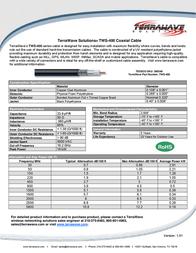 Terrawave TWS-400 Leaflet