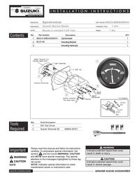 Suzuki 86W41 User Manual