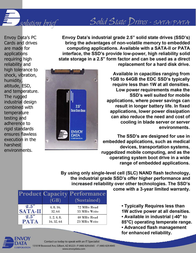 Envoy Data 64GB SATA SSD 25SSD64GB Leaflet