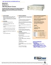 "StorCase DS351 4-Bay, 5.25"" HH, Rack Mount, SCSI Ultra160 VHDCI, (2) 65W/112Wp, Black DS351-4-160/B Leaflet"