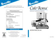Breville Espresso/Cappucino Machine ESP8XL Instruction Manual