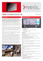 eyevis EYE-LCD-4000-HD-W Leaflet
