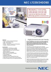 NEC MultiSync LT240K 50023921 Leaflet