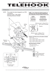Atdec TELEHOOK Projector Flush Mount TH-WH-PJ-FM Leaflet
