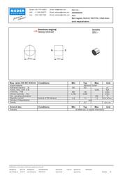 Standexmeder Electronics (Ø x L) 5 mm x 4 mm 4003004026 Data Sheet