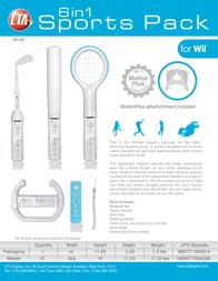 CTA Digital Grand Slam 6 in 1 Sports Pack for Wii WI-6K Leaflet