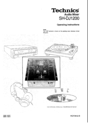 Technics SH-DJ1200 User Manual