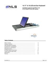 "Neuro Logic Systems 1U 17"" & 19 LCD and Sun Keyboard User Manual"