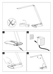 Honsel LED table lamp 6 W Cold white Signe 97021 Anthracite 97021 Leaflet