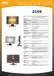 AOC 210S Leaflet