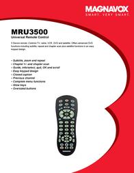 Magnavox MRU3500 Brochure