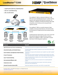 KEMP Technologies LoadMaster LM-5300 LM3-5300-B Leaflet