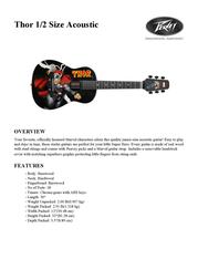 Peavey Electronics Thor 1/2 Size Acoustic 03012040 Leaflet