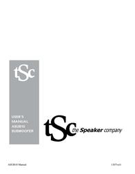 The Speaker Company ASUB10 User Manual