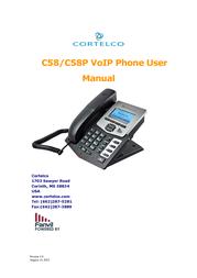 Cortelco IP Phone C58 User Manual