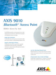 Axis 9010 BLUETOOTH 0128-002-03 Leaflet