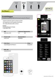 Artwizz ScratchStopper 0745-SS-P5 Leaflet