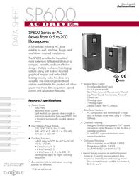 Dodge SP600 Series Data Sheet